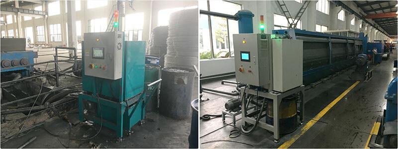 电线电缆厂拉丝油过滤设备使用现场