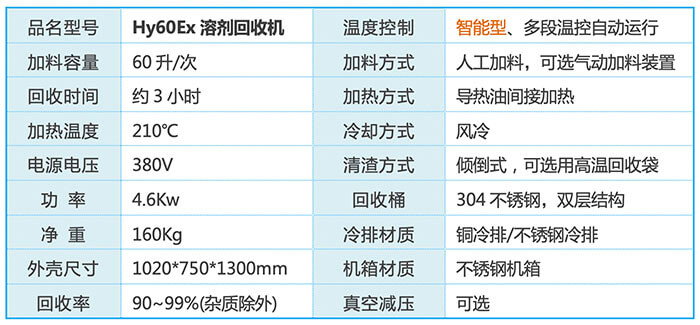 Hy60Ex溶剂回收机装置